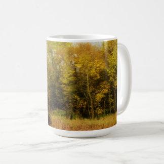 Mug Début octobre paysage d'arbres