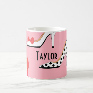 Mug Déclaration de mode rose de talon haut