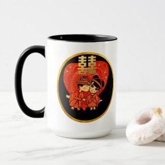 Mug Décor chinois de Partyware de cadeau de mariage -