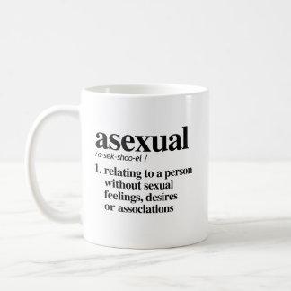 Mug Définition asexuelle - termes définis de LGBTQ -