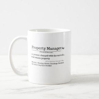 Mug Définition de gestionnaire immobilier