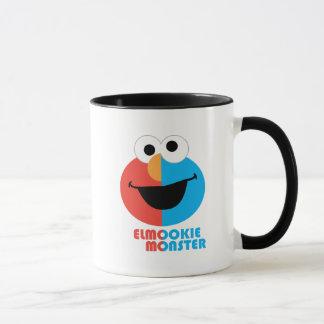 Mug Demi de visage d'Elmo et de biscuit