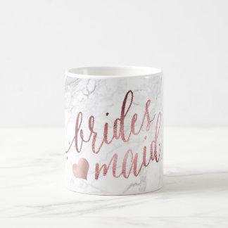 Mug Demoiselle d'honneur de PixDezines/or rose de