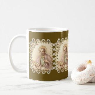 Mug Dentelle de Jésus de bébé de St Joseph