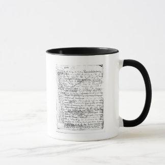 Mug Dernière page 'd'une La Recherche du Temps Perdu'