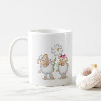 Mug des moutons dans l'amour, j'aime la brebis,
