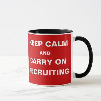 Mug Des vacances d'emploi - gardez le slogan recruteur