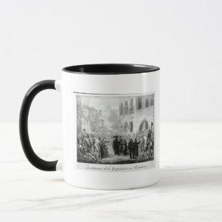 Mug Destruction de l'enquête à Barcelone