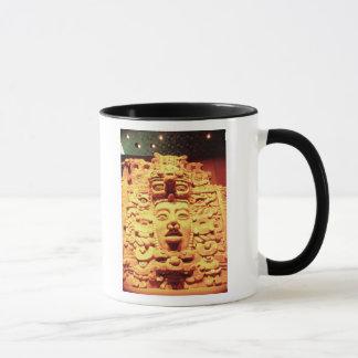 Mug Détail d'un mur de temple avec