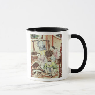 Mug Détail d'un vase dépeignant des artisans