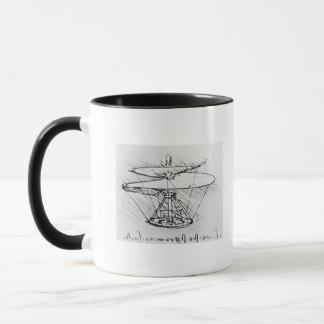 Mug Détail d'une conception pour une machine de vol,