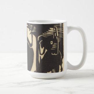 Mug Deux animaux mythiques Zwei Fabeltiere