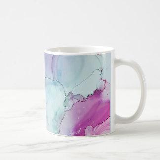 Mug Dévotion - art abstrait d'encre par Karen Ruane