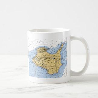 Mug Diagramme nautique de l'île de Kelly, OH