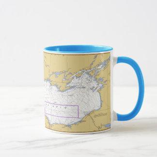 Mug Diagramme nautique du lac Ontario