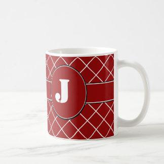 Mug Diamant rouge décoré d'un monogramme