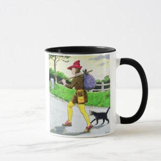 Mug Dick Whittington (1358-1423) et son chat, de 'pe