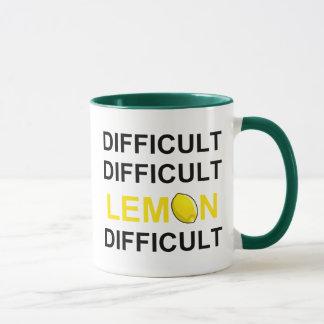 Mug ` Difficile, difficile, citron, difficile'