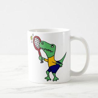 Mug Dinosaure drôle UV de T-Rex jouant la bande