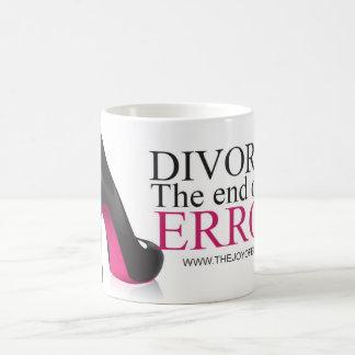"Mug Divorce de chaussures "". La fin d'une erreur."""