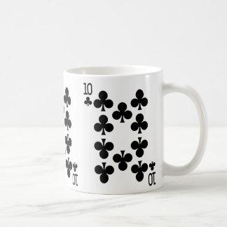 Mug Dizaines de la carte de jeu de clubs