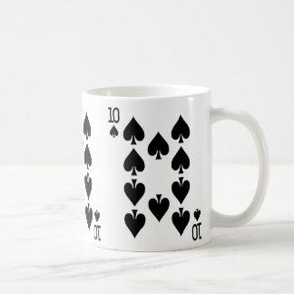 Mug Dizaines de la carte de jeu de pelles