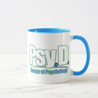 Mug DOCTEUR OF PSYCHOLOGY de PsyD LOGO2