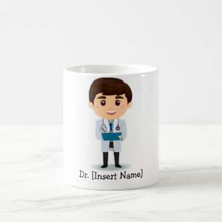 Mug Docteur personnalisé de mâle de brune