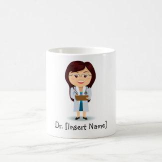 Mug Docteur personnalisé Female de brune