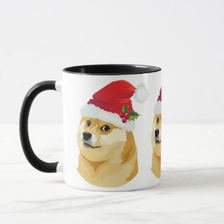 Mug Doge de Noël - doge de père Noël - chien de Noël
