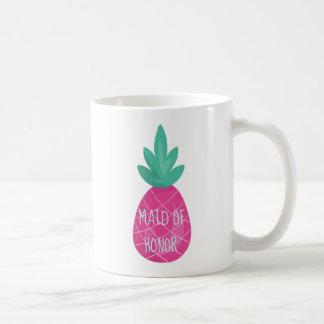 Mug Domestique pourpre d'ananas d'honneur