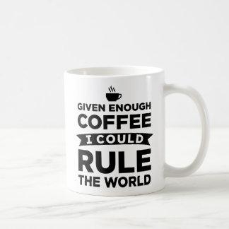Mug Donné assez de café me pourrais ordonner les