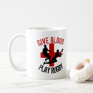 Mug Donnez à rugby de jeu de sang le sport drôle de