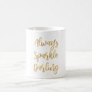 Mug D'or chouchou d'étincelle toujours