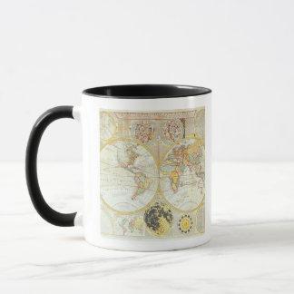 Mug Double carte du monde d'hémisphère
