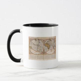 Mug Double carte du monde d'hémisphère, 1587