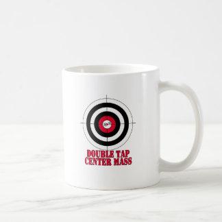 Mug Double cible d'arme à feu de la masse de centre de