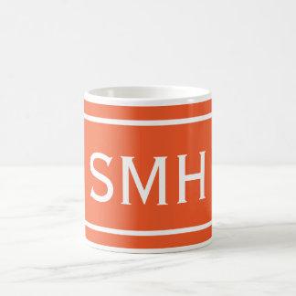 Mug Double rayure orange de Chevron