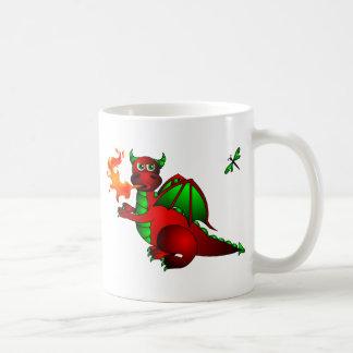Mug Dragon et libellule rouges