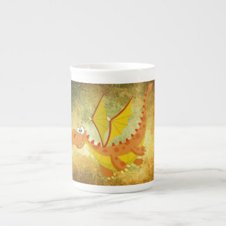 Mug Dragon sur une texture orange