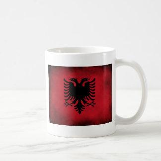 Mug Drapeau albanais grunge [de haute qualité]
