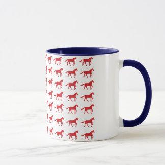 Mug Drapeau américain de chevaux patriotiques