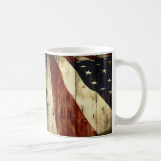 Mug Drapeau américain de fibre de bois americana