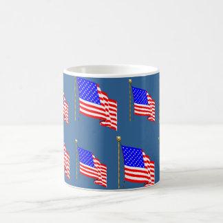 Mug Drapeau américain de ondulation