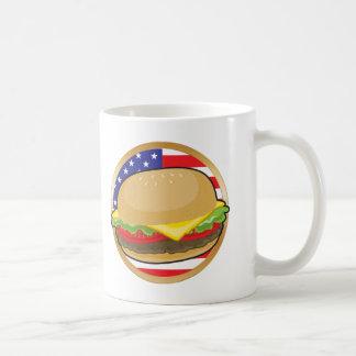 Mug Drapeau américain d'hamburger