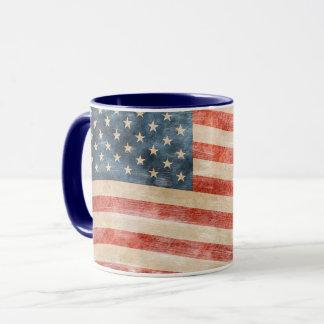 Mug Drapeau américain peint par cru de sembler
