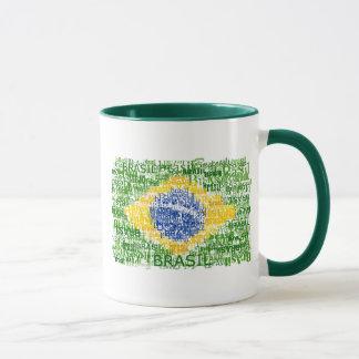 Mug Drapeau brésilien - Brésil textuel