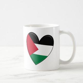 Mug Drapeau de coeur de la Palestine