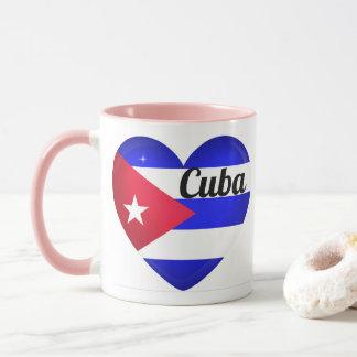 Mug Drapeau de coeur du Cuba
