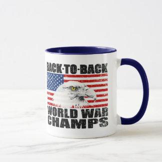 Mug Drapeau des États-Unis et champions affligés de
